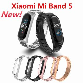 Mi Band 5 Milanese Metal Strap For Xiaomi Mi Band 5 Alternative Stainless Steel Smart Wristband For MiBand 5 thumbnail