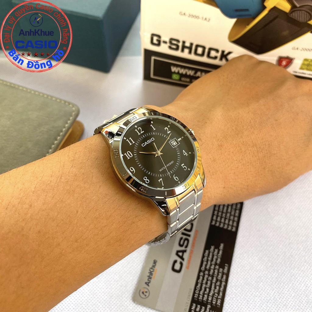 Đồng hồ nam Casio MTP-V004 MTP-V004D MTP-V004G MTP-V004SG dây thép bảo hành 1 năm ch