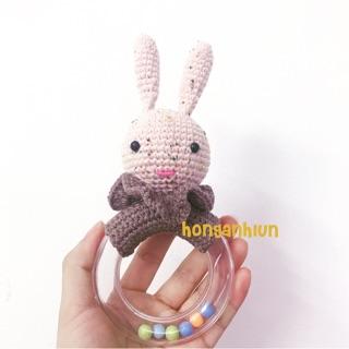 Lục lạc thỏ handmade cho bé yêu