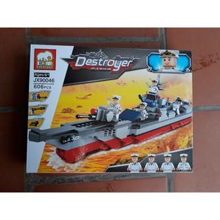 Bộ đồ chơi xếp hình Chiến Hạm Hải Quân – Elephant JX90046