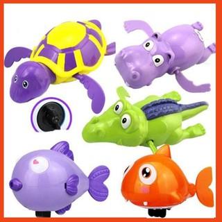 [S-KA] Bộ 6 con thú đồ chơi bồn tắm thú biết bơi cho bé T1052 – Loại to
