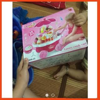 [SALE OFF] đồ chơi cho bé – xe đẩy kem có nhạc có đèn SẢN PHẨM BÁN CHẠY