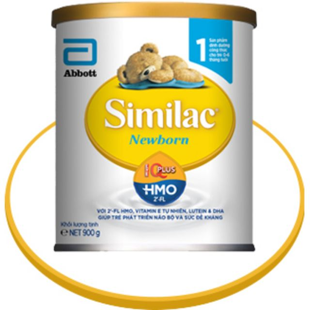 Sữa bột Similac IQ số 1(mẫu mới) 900g date 2020