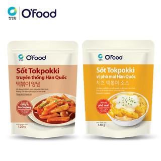 [Mã FMCGMALL giảm 8% Tối đa 80K đơn 250K] Sốt tokbokki / tokpokki Hàn Quốc O'Food 120g, vị truyền thống và phô mai cay