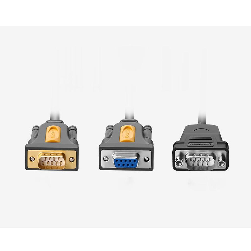 Cáp chuyển đổi USB sang Com RS232 (DB9) dài 1,5m UGREEN 20201 - Hàng chính hãng bảo hành 18 tháng