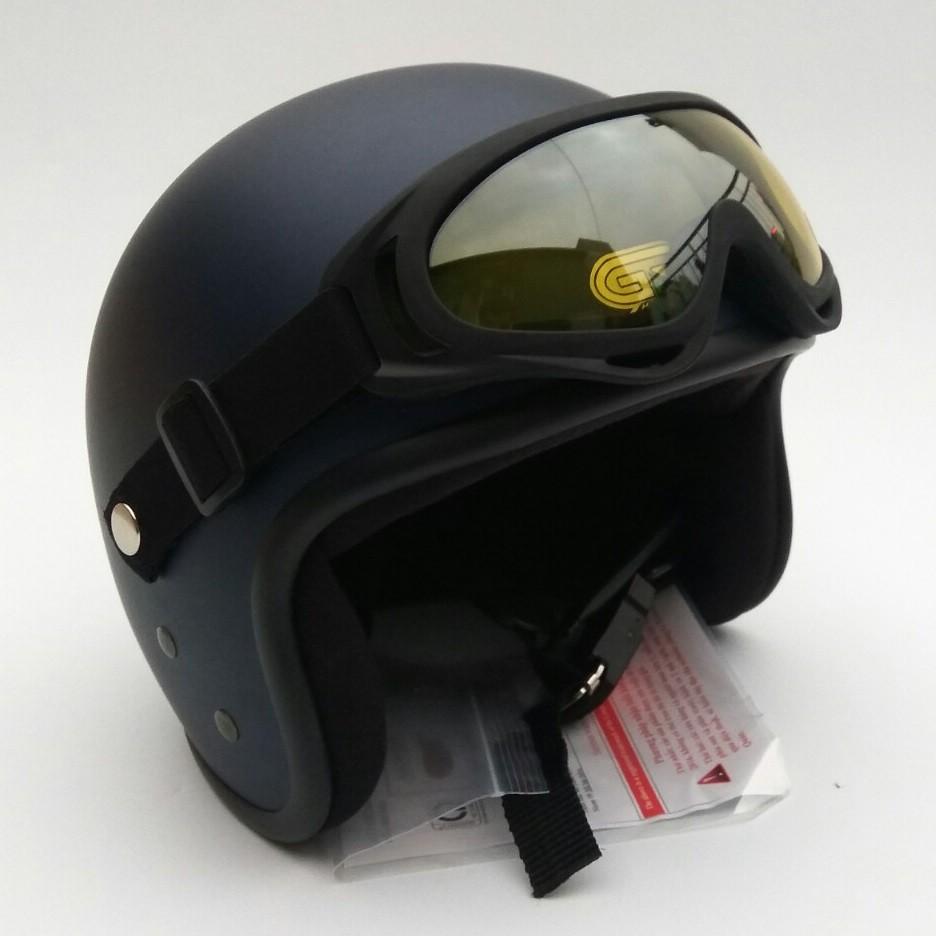 Nón bảo hiểm 3/4 GRS A368K kính Dây
