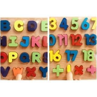 Bảng ghép chữ, ghép số