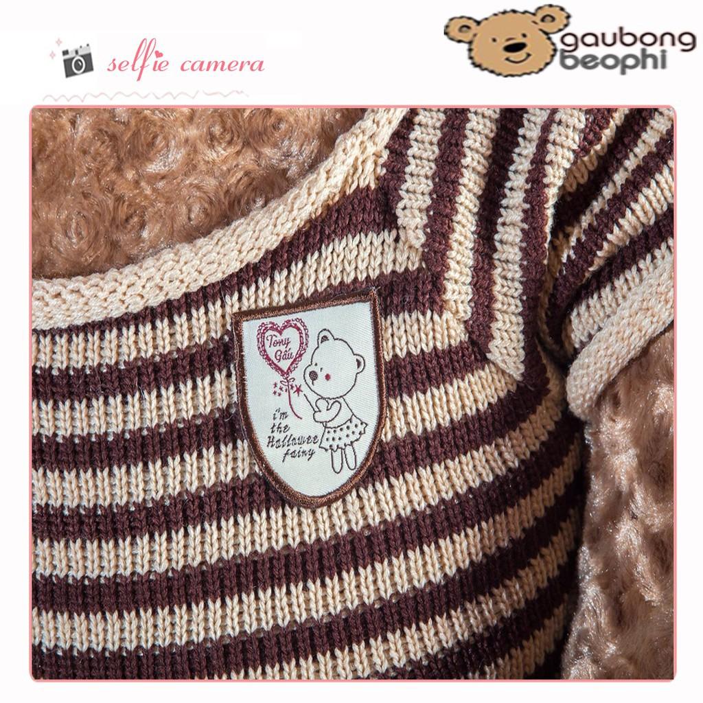[ RẺ VÔ ĐỊCH ] bông teddy áo len cao cấp màu socola khổ vải 1m4 chiều cao thật 1m2
