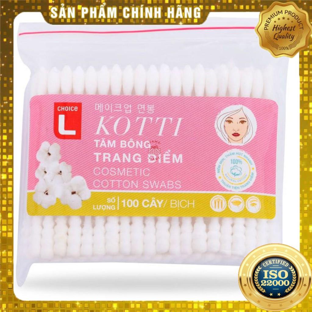 [ Yams Mart ] Combo 2  Tăm Bông Trang Điểm Choice L (CL) Túi 100 Cây-900