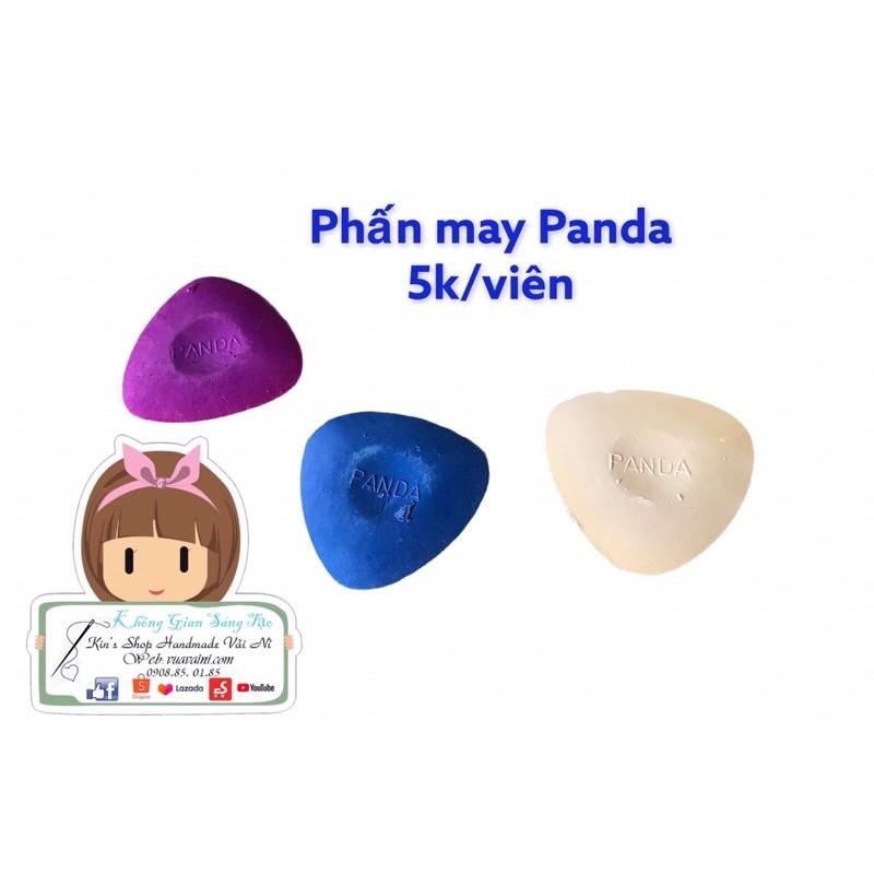 Phấn may Panda có màu hồng, màu xanh, màu trắng dùng vẽ lên vải trước khi may, phụ liệu may mặc