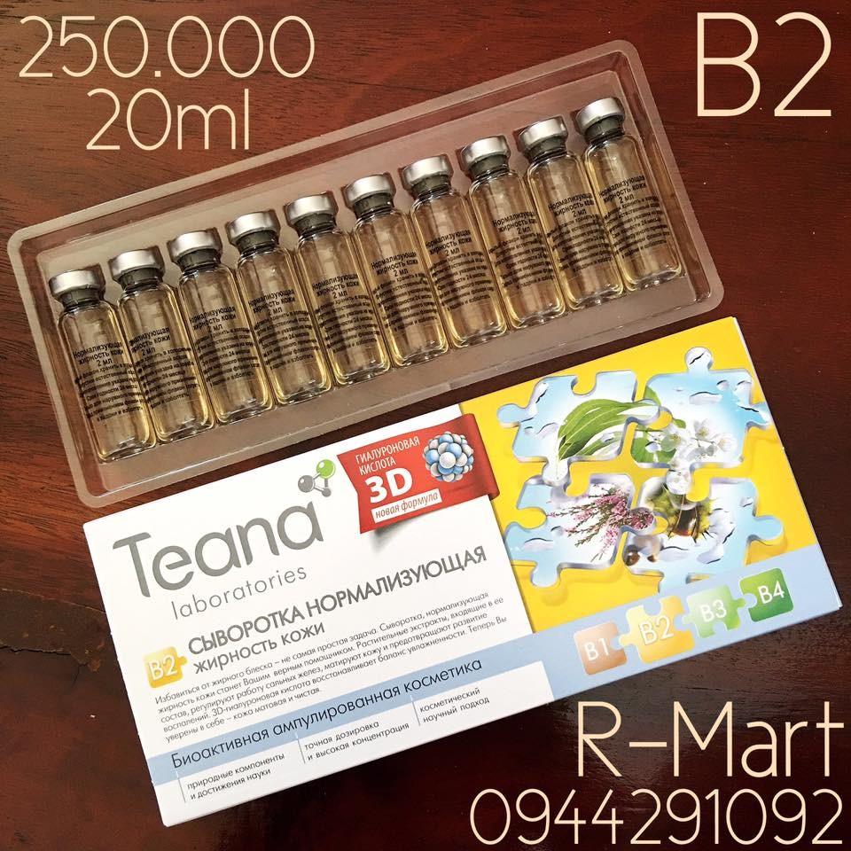 Collagen tươi Teana B2 trị mụn, chống viêm, điều tiết lượng dầu cho da hỗn hợp, da dầu, da mụn