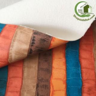 Vải da simili PVC - vải giả da may túi, làm dép, bọc ghế sofa - [ 1 mét x khổ 1,4m ] giả da cá sấu nhiều màu có vân thumbnail