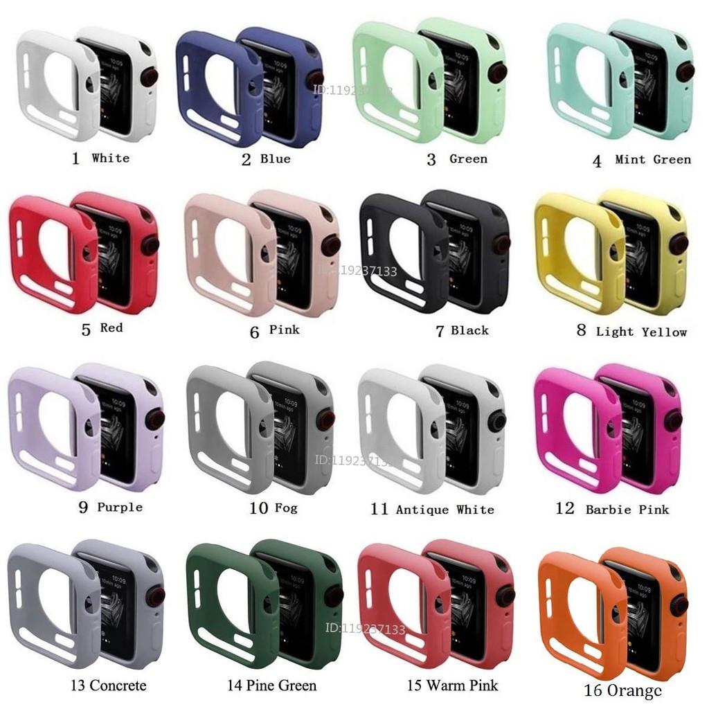 Ốp bảo vệ đồng hồ bằng silicon mềm nhiều màu cho Apple Watch iWatch Series 5/4/3/2/1 38mm 40mm 42mm 44mm