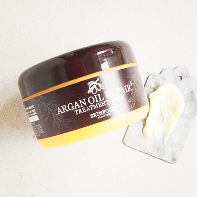 Ủ tóc siêu mượt SKINFOOD Argan Oil Repair Treatment Mask