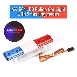Đèn led cảnh sát xe rc xài nguồn rx 6v
