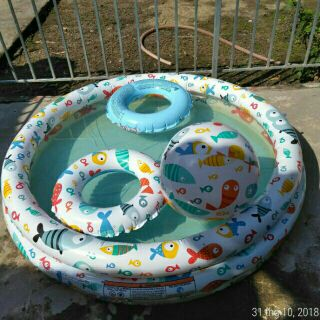 Combo bộ bể bơi 3 Tầng tặng kèm bóng và phao bơi