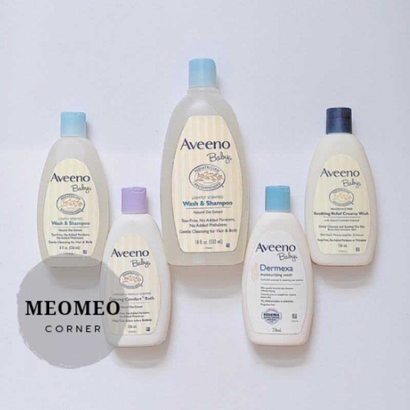 Sữa tắm gội toàn thân cho bé Aveeno Baby Lightly Scented Wash & Shampoo 532ml Úc
