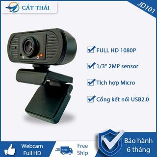 [KÈM QUÀ TẶNG] Webcam có mic JD101 dùng được học online,gọi video call, FULL HD 1080P cổng kết nối USB, độ phân giải cao
