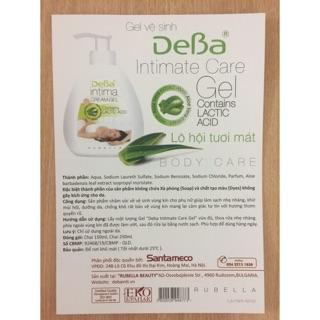 [ Kèm Quà Tặng ] Gel vệ sinh phụ nữ Deba Intimate care Gel - Gel Lô Hội 250 ml Bulgaria 4