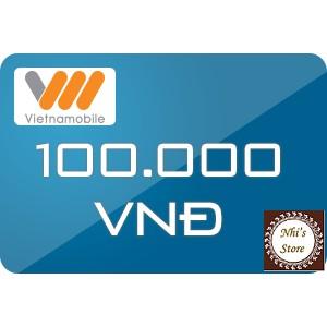 Thẻ cào Vietnamobile 100k nhận mã thẻ qua hộp thư Shopee