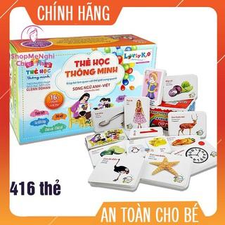 💯%️[Giá Xưởng] Bộ Thẻ Học Thông Minh 16 Chủ Đề Tiếng Anh Tiếng Việt Cho Bé