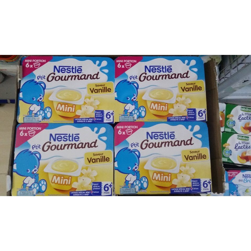Váng sữa Nestle vị vani date mới 03.2019 vỉ 6 hộp mới nhất