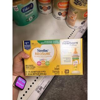 BAY AIR date 7/21 – Sữa nước Similac Neosure – 1 hộp x 8 chai 59ml (hàng Mỹ bay air)