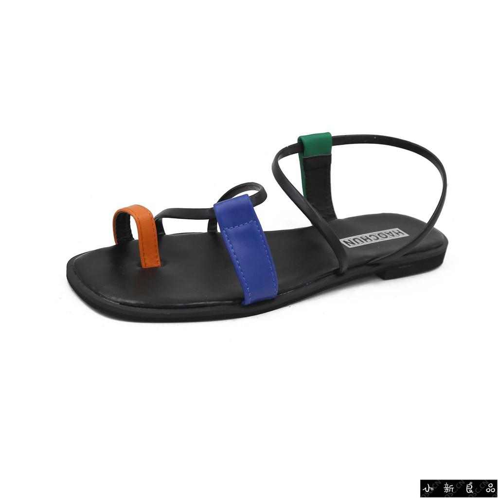 ❤️ Spot ❤️ sandals 2019 new summer net red toe holiday beach