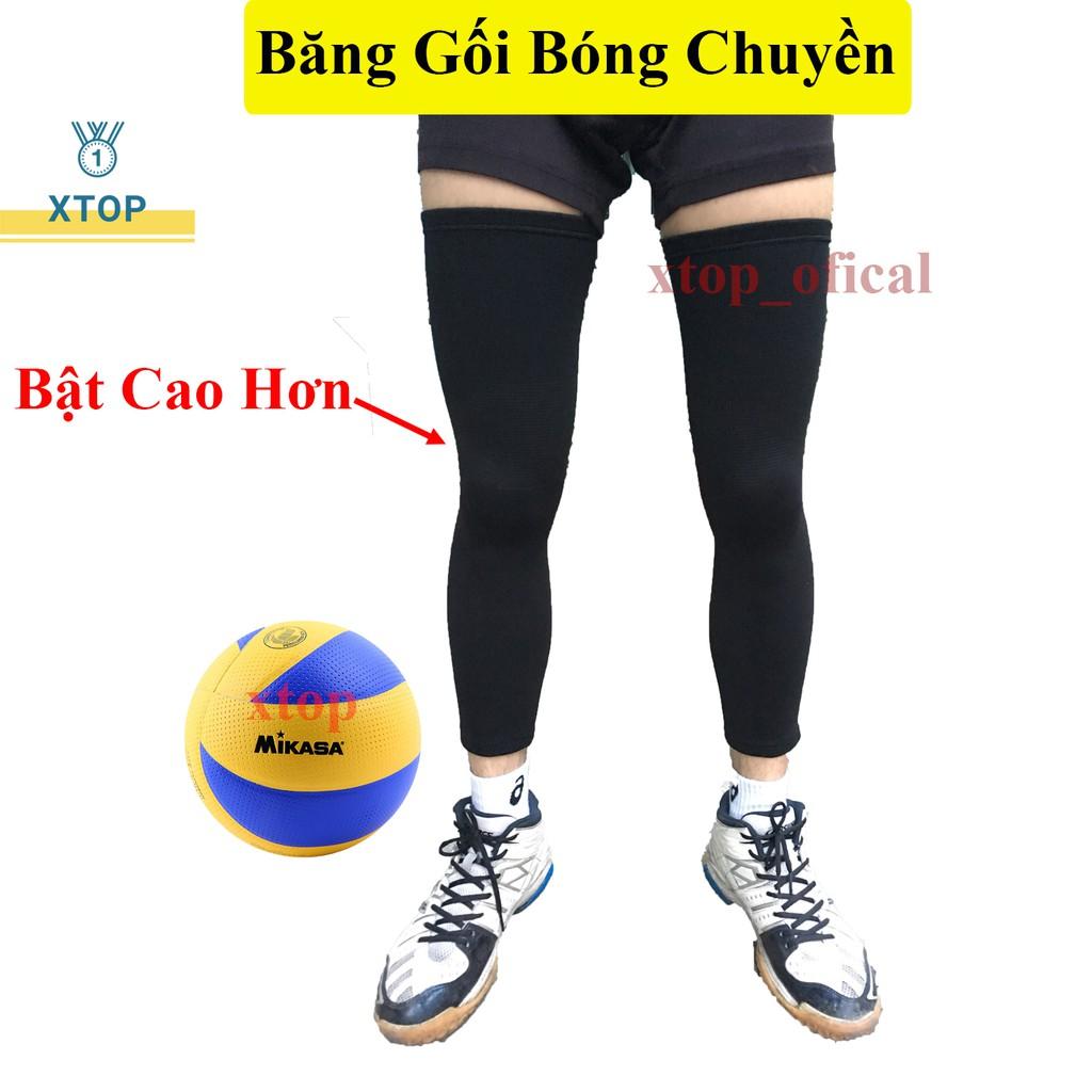 Bó gối bóng chuyền,bóng rổ loại 1, bó gối dài chơi thể thao chính hãng A7811
