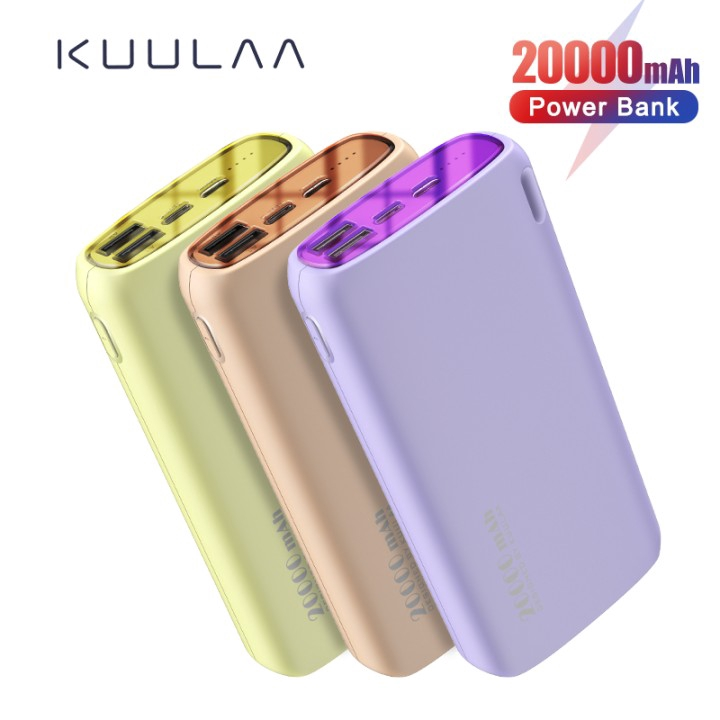Pin Sạc Dự Phòng KUULAA KL-YD14 2 Cổng USB Màu Macaron 20000mAh Tiện Lợi Cho Xiaomi Samsung iPhone