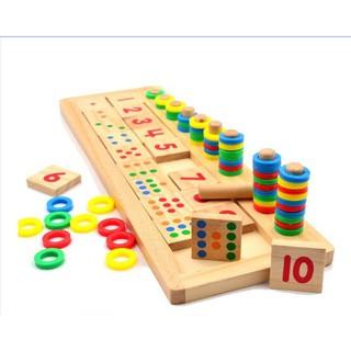 Đồ Chơi Giáo Dục Bảng Số Montessori Cho Bé