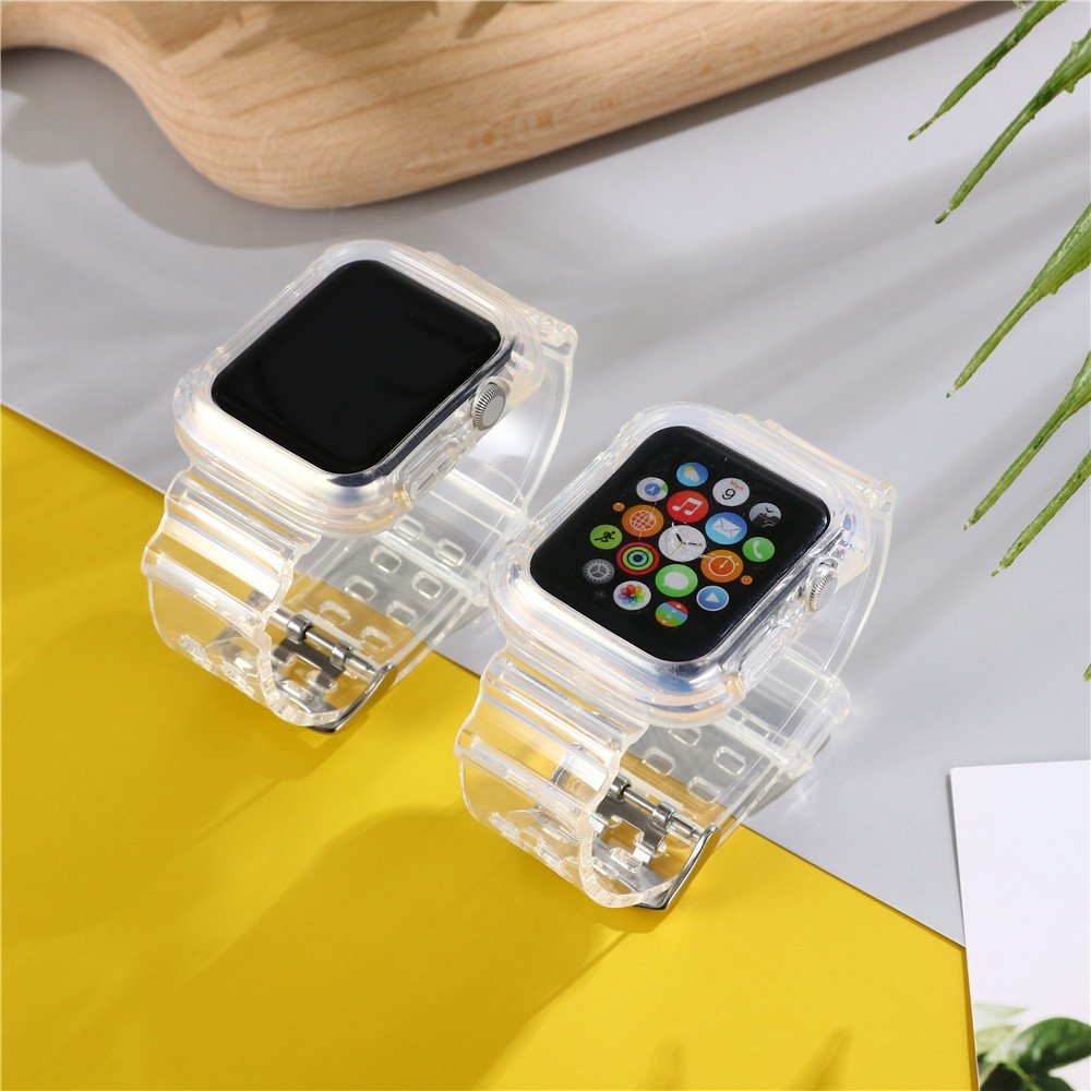 Dây Silicone Trong Suốt 38 / 40 / 42 / 44mm Cho Đồng Hồ Apple Watch Series 5 4 3 2 1