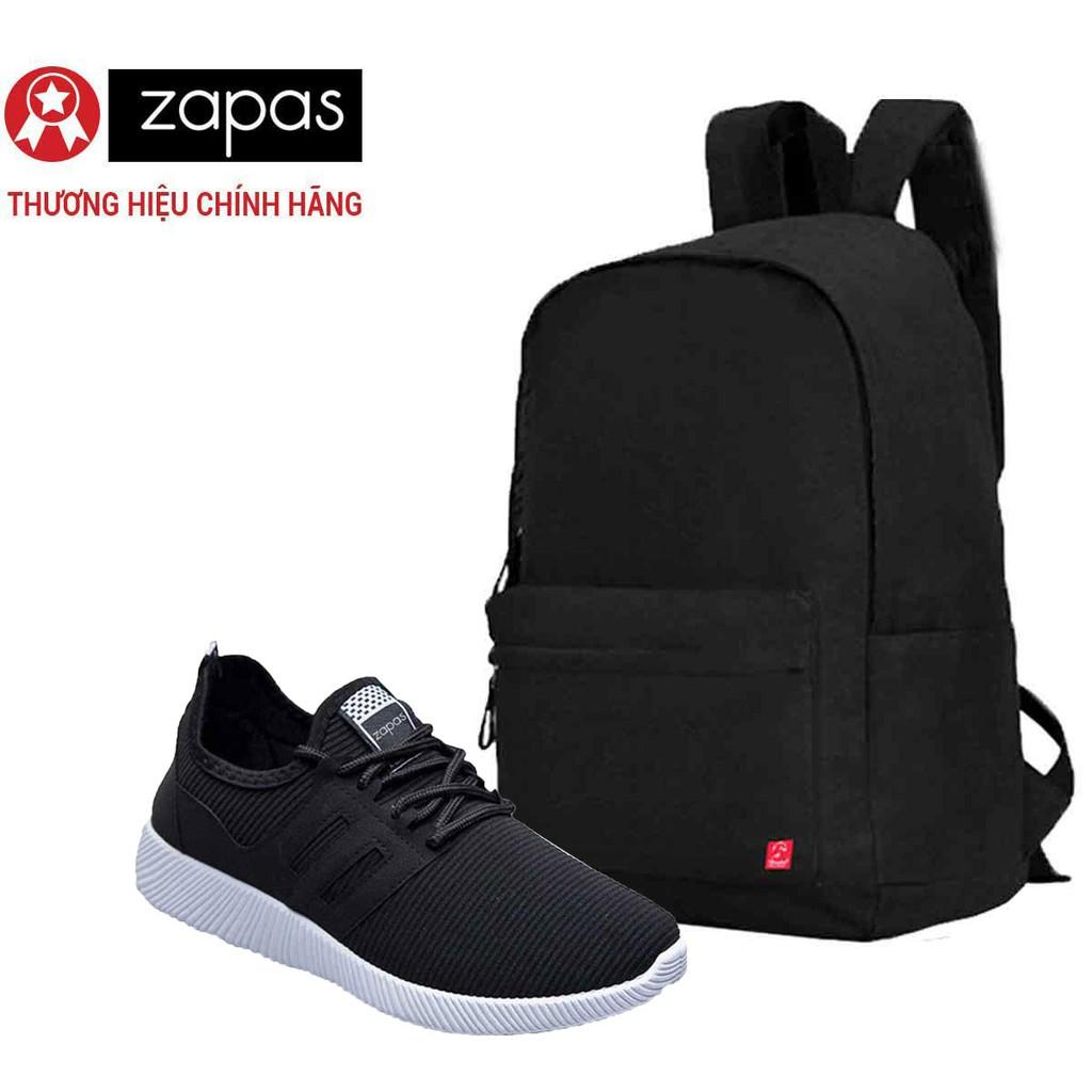 [FREESHIP+ZAPASKM07 giảm 10%] Combo Balo Classical Glado BLL002 (Đen) + Giày Sneaker GS068 (Đen)