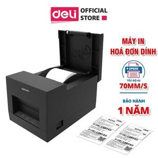 Máy in hóa đơn nhiệt Deli - màu đen - dòng PWs hỗ trợ kết nối bluetooth- Tặng kèm 2 cuộn 17m 57x50mm thumbnail