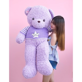 Gấu Teddy Lavender tím áo len (1m2)