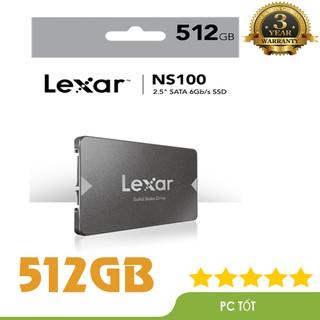 """[Mã ELMS4 giảm 7% đơn 500K] Ổ cứng SSD 512GB Lexar NS100 512GB 2.5"""" SATA III (6Gb/s) - Chính hãng Mai Hoàng phân phối"""