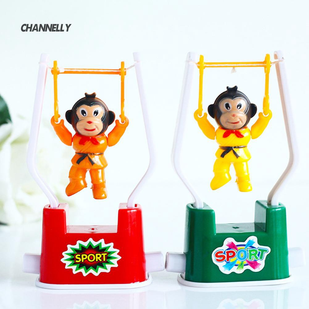 ■Cy Creative Child Wind Up Clockwork Gymnastics Monkey Swing Flip Toy Birthday