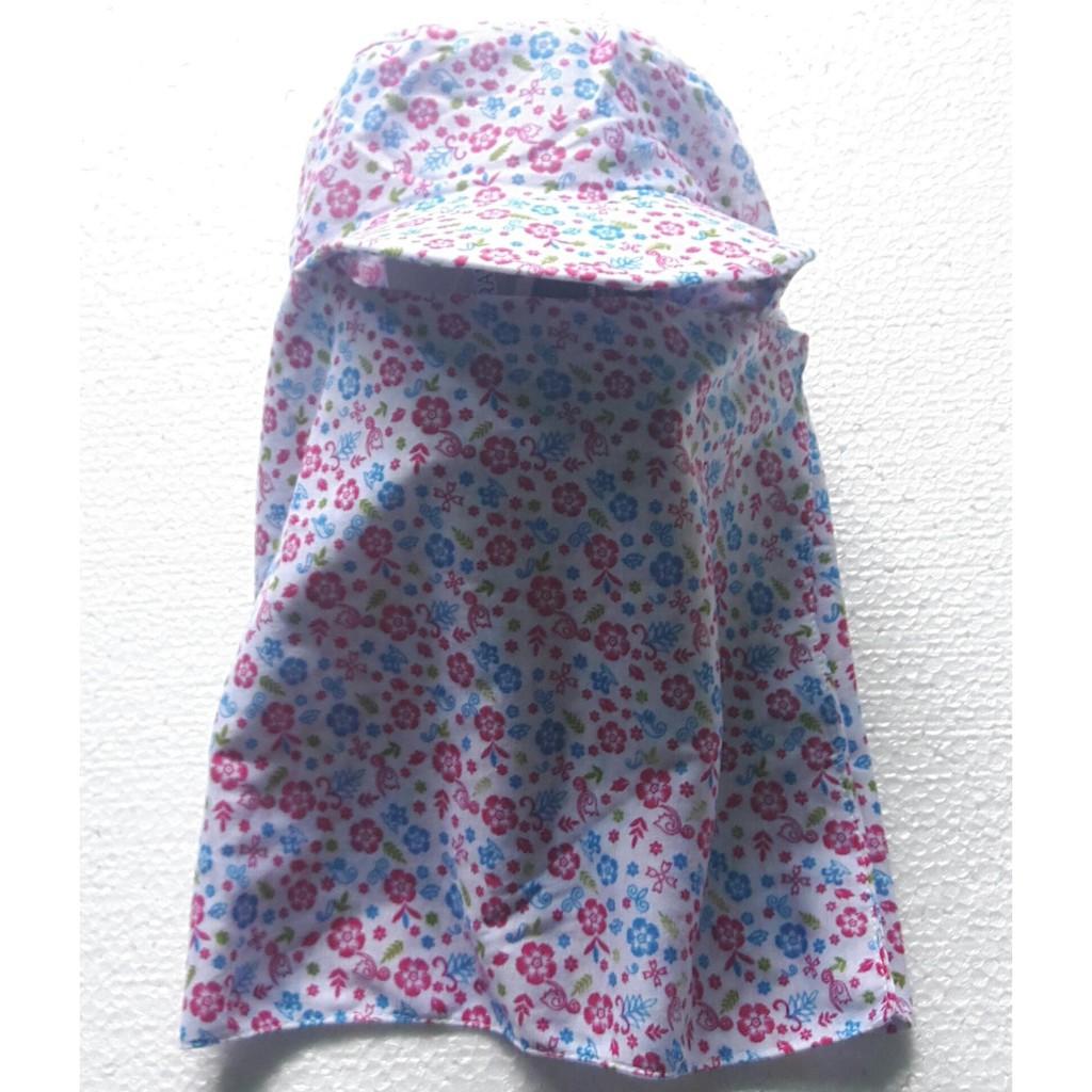 Mũ Che Nón Chống Nắng Cao Cấp 02 Lớp ( Cotton hình hoa nhiều màu)