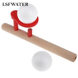 Blowing Ball Balance Training Wooden Toy Blow Pipe For Kids and Adults Great