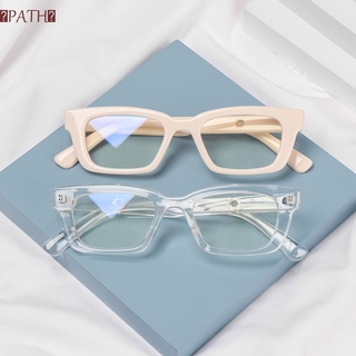 PATH Men Women Square Frame Eyewear Blue Light Blocking Computer Goggles Anti-blue Light Glasses Vision Care Fashion Radiation Protection Retro Classic Vintage Eyeglasses/Multicolor