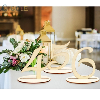 Table Numbers Banquets Tool Decoration Party Wooden 11-20 Shape Table Numbers Set 3mm Thick Birthday Practiacl