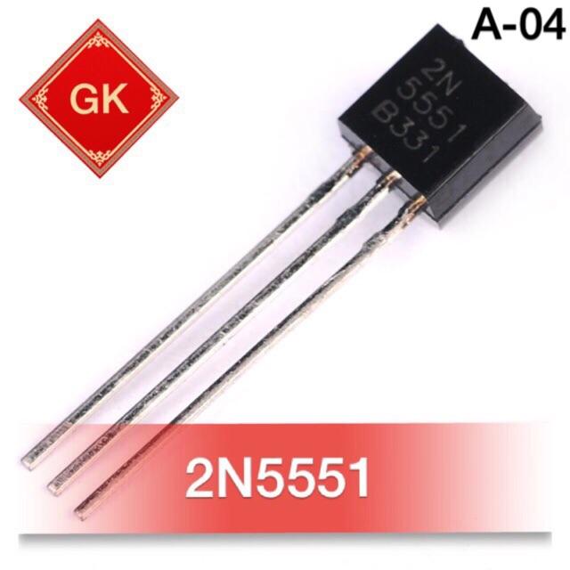 [2 cái] 2N5551 - transistor bán dẫn.