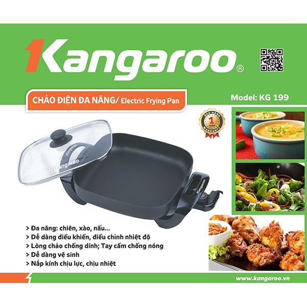 Chảo điện đa năng Kangaroo KG199 (Bảo Hành 12 Tháng Chính Hãng Toàn Quốc)