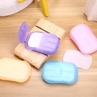 Bộ 20 miếng xà phòng giấy khô rửa tay dùng 1 lần bỏ túi du lịch