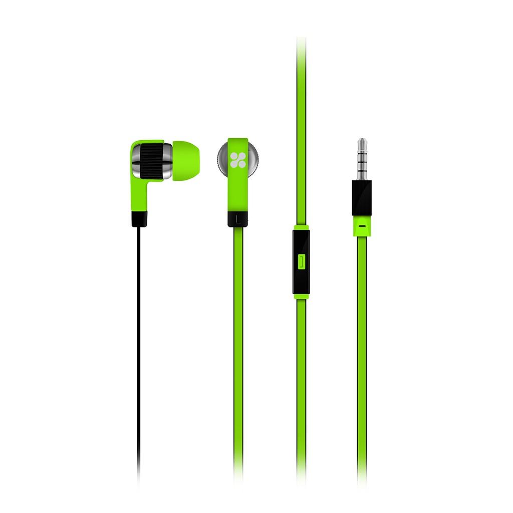 Tai nghe In-Ear Promate Swish thanh lọc âm thanh kèm Mic (Xanh lá)