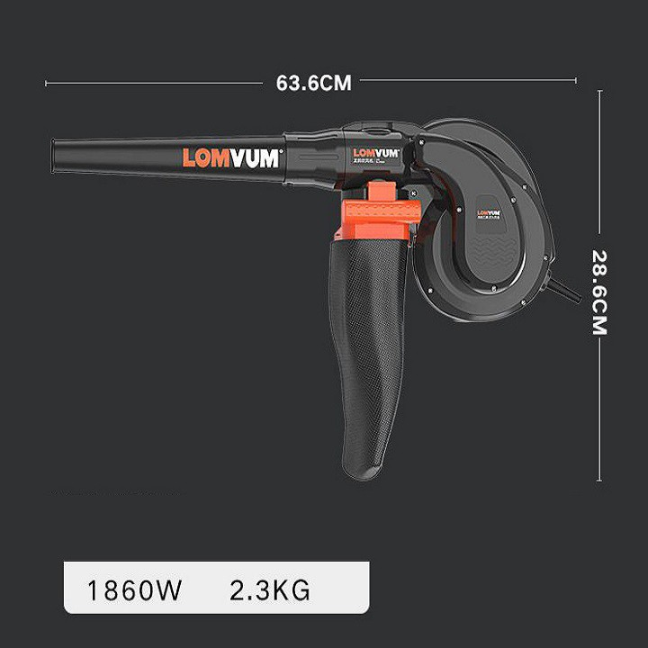 RE0436 Máy thổi hút bụi công nghiệp 1860W - hút bụi LONVUM loại lớn công suất 2300W - Máy thổi bụi ACZ - Máy hút bụi côn