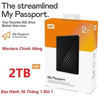 Ổ Cứng Di Động WD My Passport 2TB Chuẩn USB 3.2 Gen1 10Gb s (Phiên bản mới) Chính Hãng thumbnail