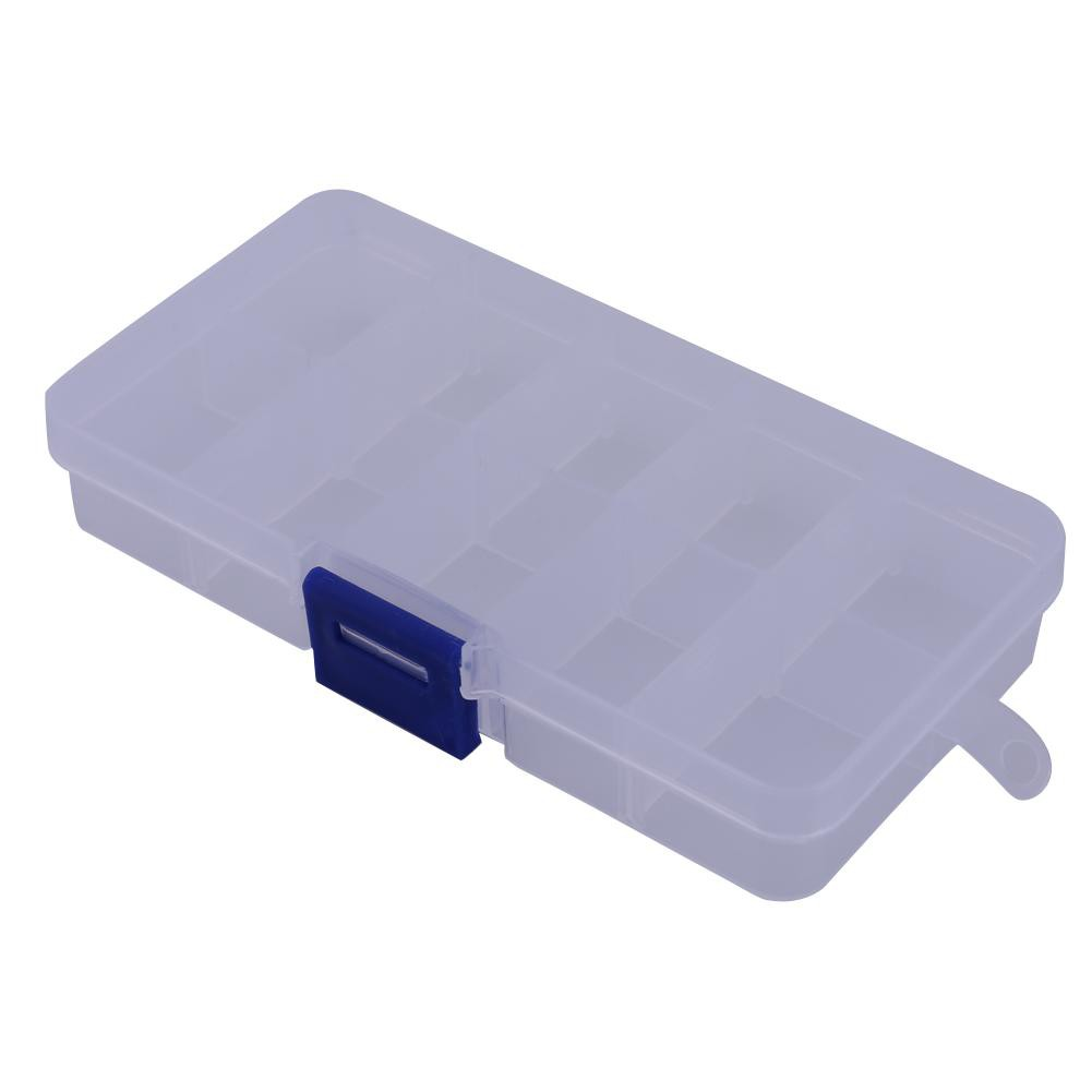 10 Compartments Portable Transparent Plastic Fishing Lure Storage Box Case [tyoufing]
