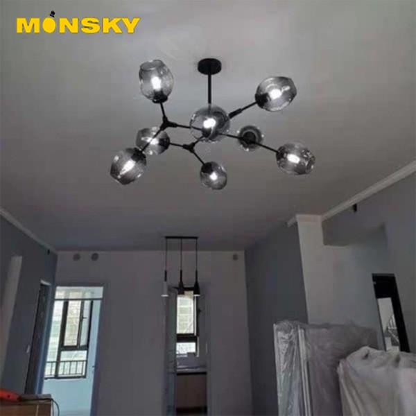 Đèn chùm thả MONSKY ASLEY MAXWEL 8 bóng cao cấp sang trọng