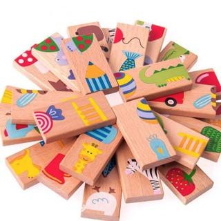[SIEU KHUYEN MAI GIA SOC] [Mã TOYNOV giảm 10% tối đa 15K đơn từ 50K] Bộ đồ chơi Domino 28 chi tiết cho bé